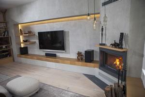 Modern Fireplace Surrounds - M 198 B