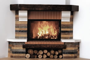 Rustic Fireplace Surrounds - R 103