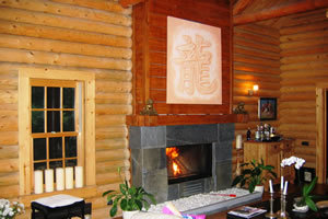 Rustic Fireplace Surrounds - R 105