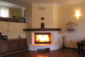 Rustic Fireplace Surrounds - R 109