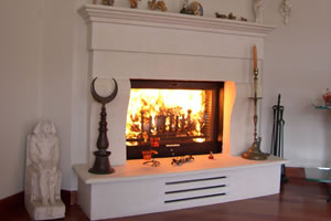 Rustic Fireplace Surrounds - R 110