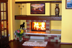Rustic Fireplace Surrounds - R 112 A