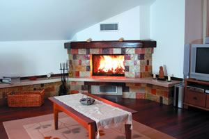 Rustic Fireplace Surrounds - R 112