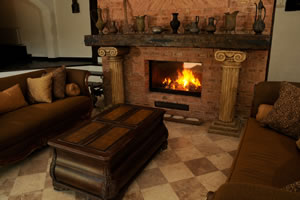 Rustic Fireplace Surrounds - R 113