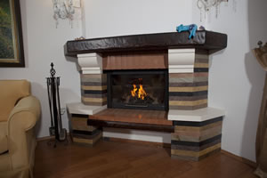 Rustic Fireplace Surrounds - R 115