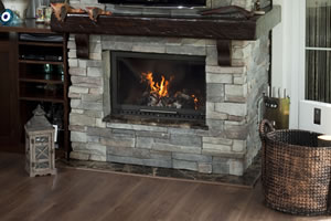 Rustic Fireplace Surrounds - R 116 A