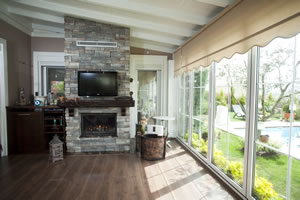 Rustic Fireplace Surrounds - R 116