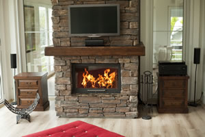 Rustic Fireplace Surrounds - R 118 B