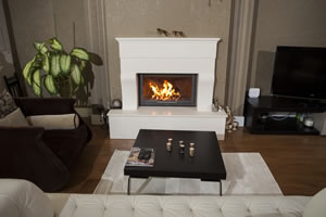 Rustic Fireplace Surrounds - R 121 A