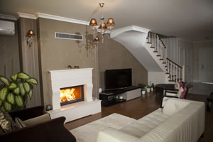 Rustic Fireplace Surrounds - R 121 B