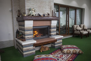 Rustic Fireplace Surrounds - R 122 A