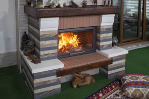Rustic Fireplace Surrounds - R 122 B