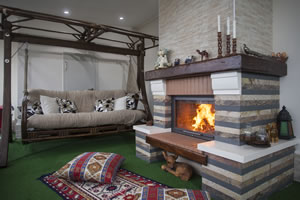 Rustic Fireplace Surrounds - R 122