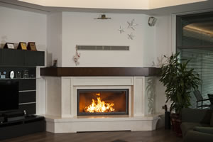 Rustic Fireplace Surrounds - R 123