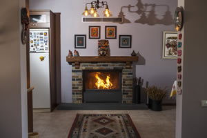 Rustic Fireplace Surrounds - R 124