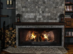 Rustic Fireplace Surrounds - R 126