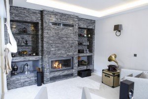 Rustic Fireplace Surrounds - R 129 B