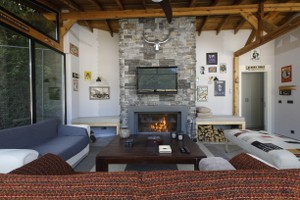 Rustic Fireplace Surrounds - R 132