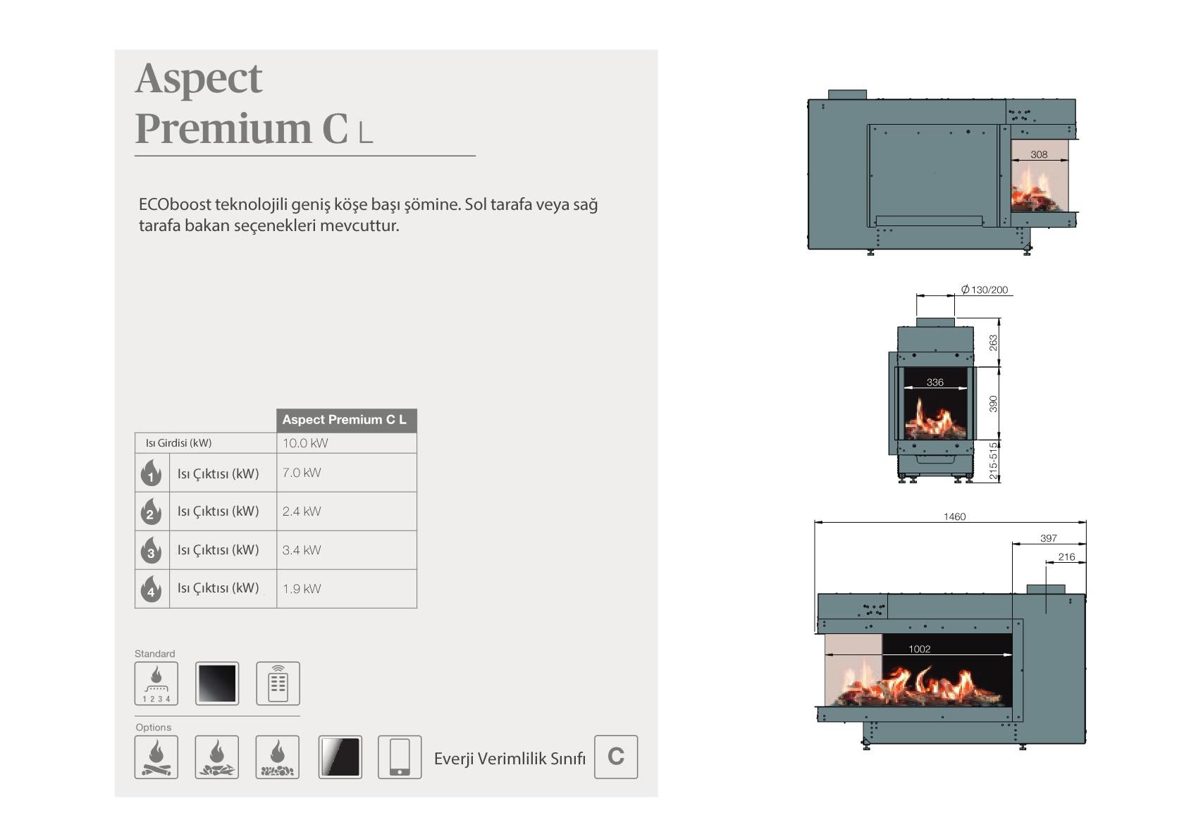 Faber Natural Gas Fireplaces - Aspect Premium CL