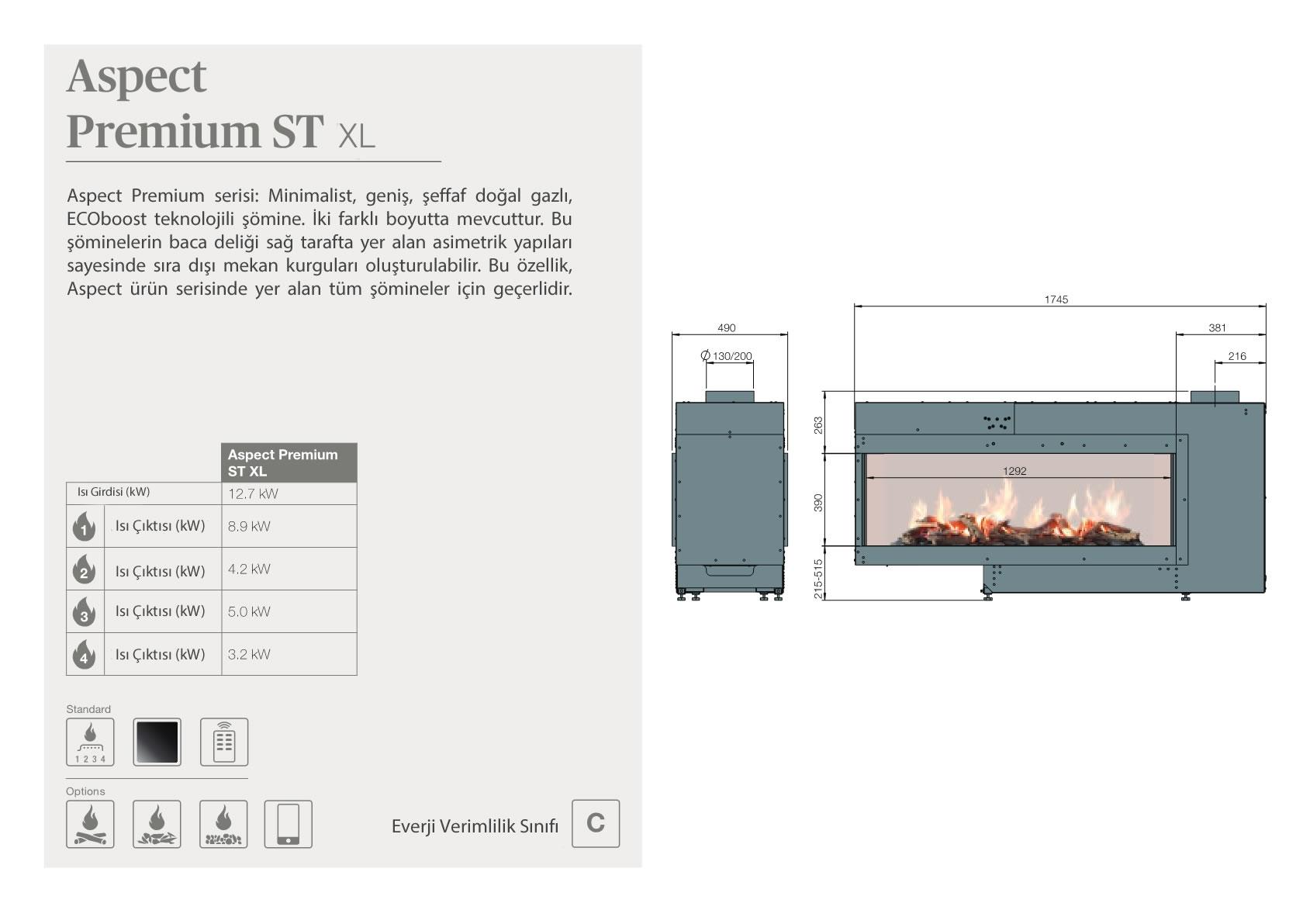 Faber Natural Gas Fireplaces - Aspect Premium ST XL