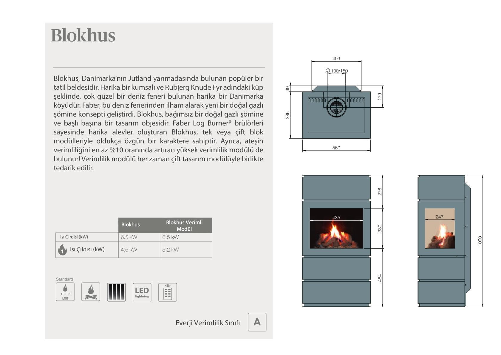 Faber Doğalgazlı Şömineler - Blokhus