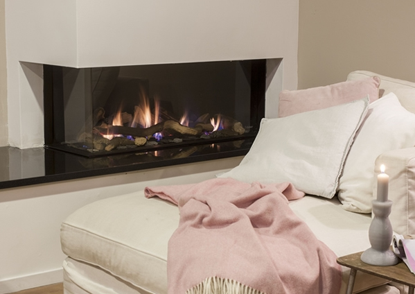 Faber Natural Gas Fireplaces - Duet Smart L