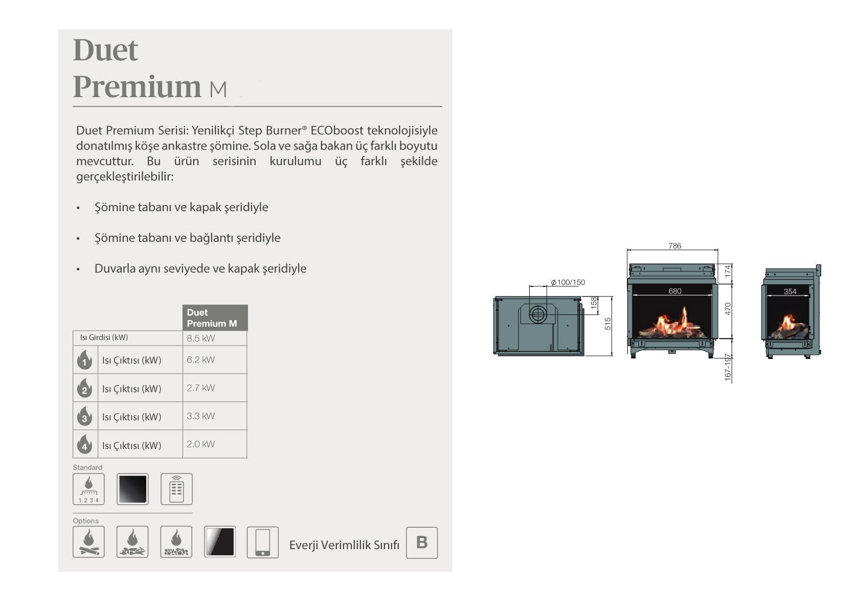 Faber Natural Gas Fireplaces - Duet Premium M