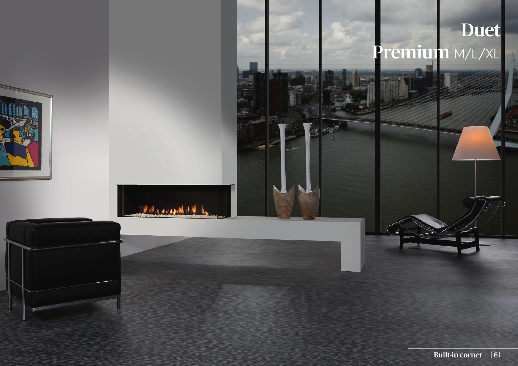 Faber Natural Gas Fireplaces - Duet Premium XL