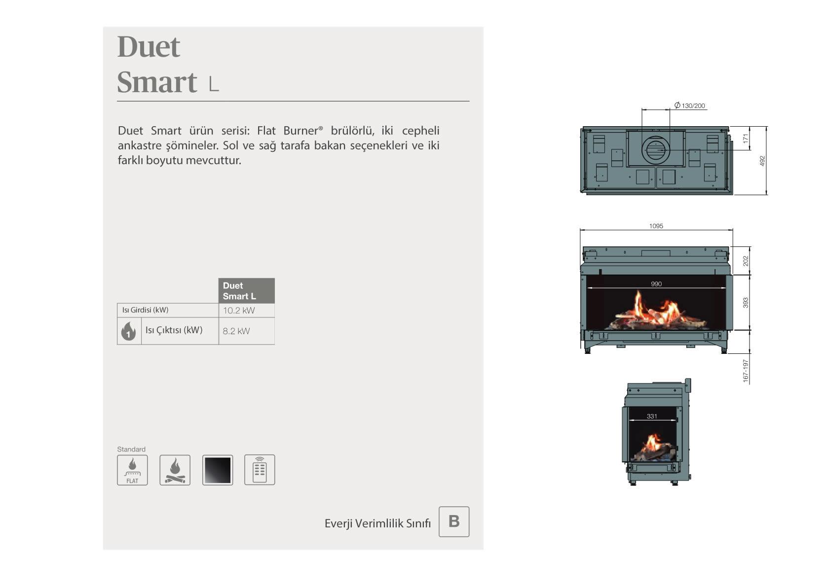 Faber Natural Gas Fireplaces - Duet Smart L