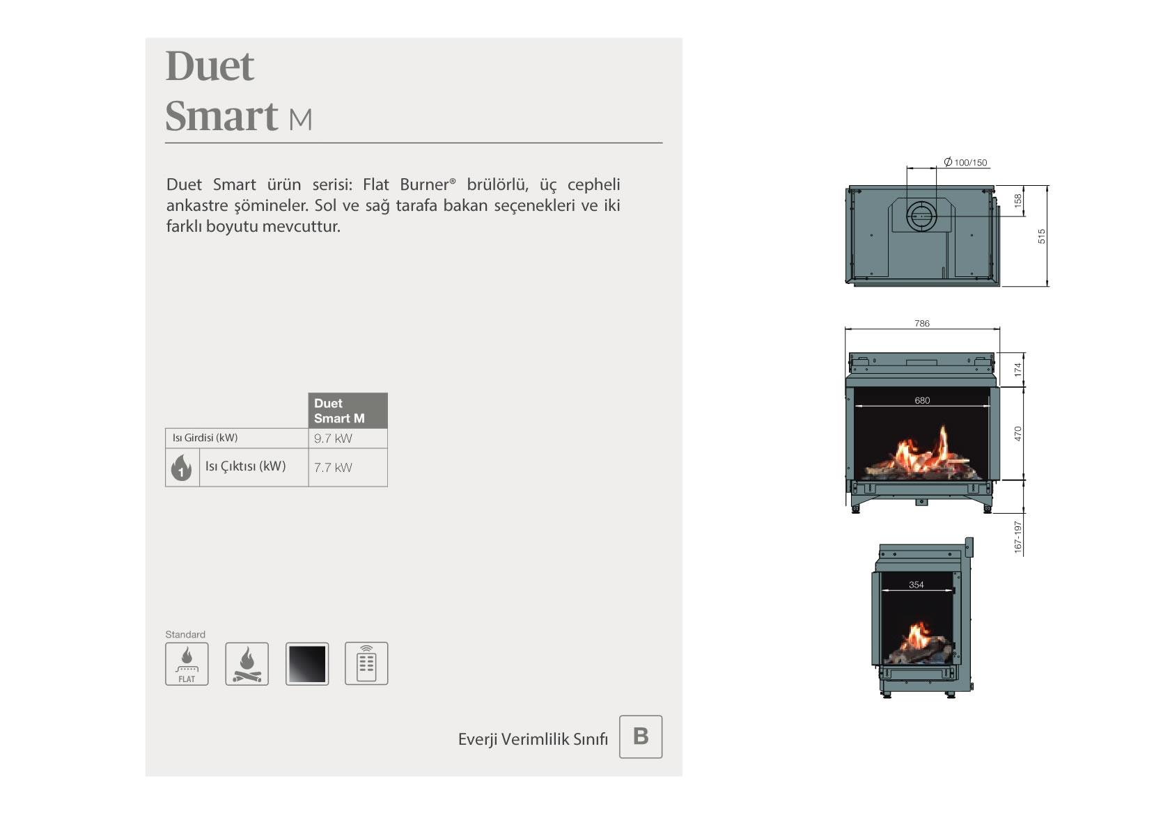 Faber Doğalgazlı Şömineler - Duet Smart M