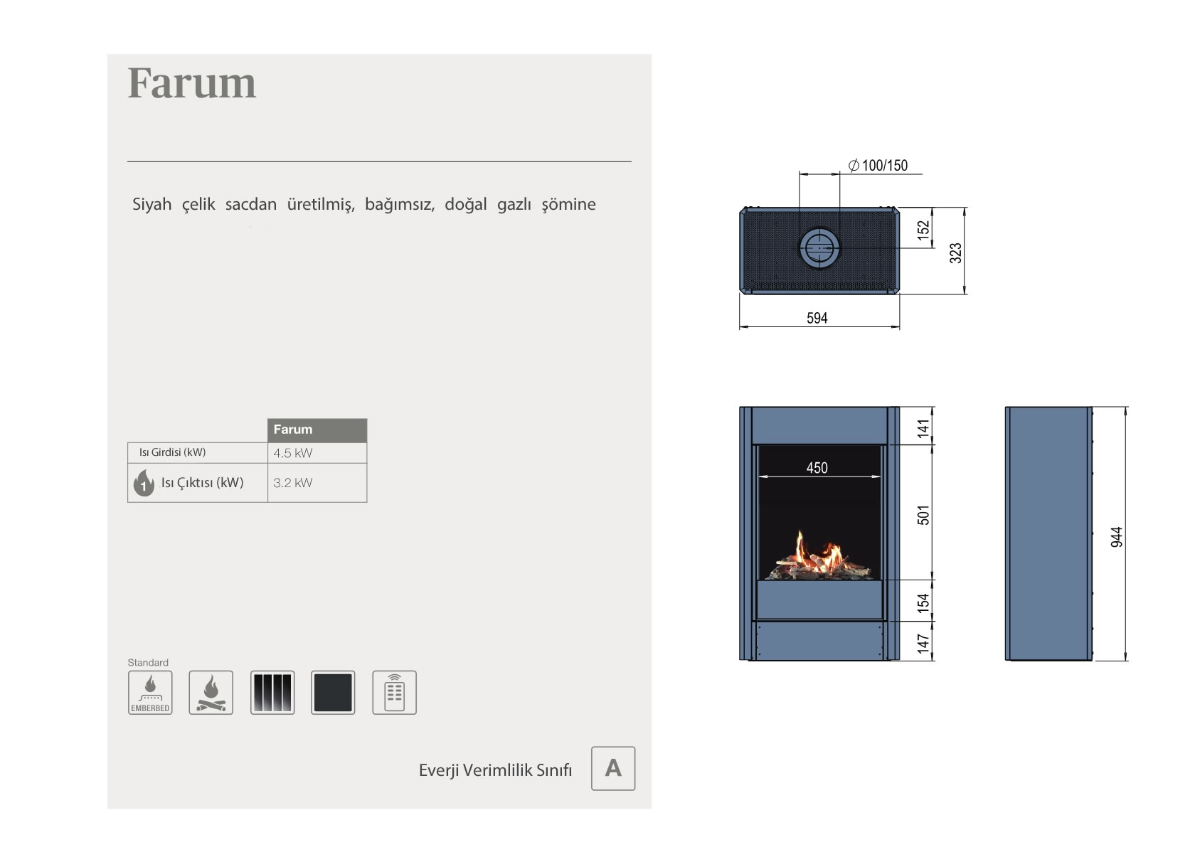 Faber Natural Gas Fireplaces - Farum