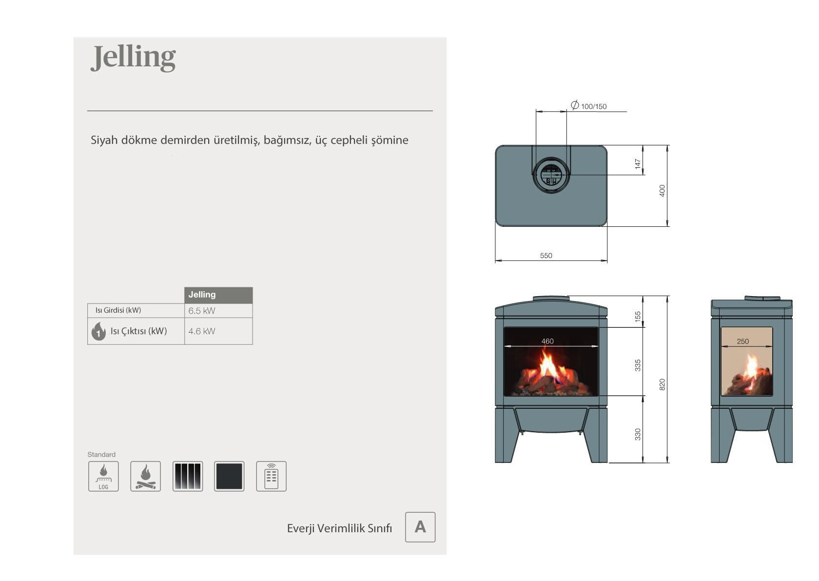 Faber Natural Gas Fireplaces - Jelling