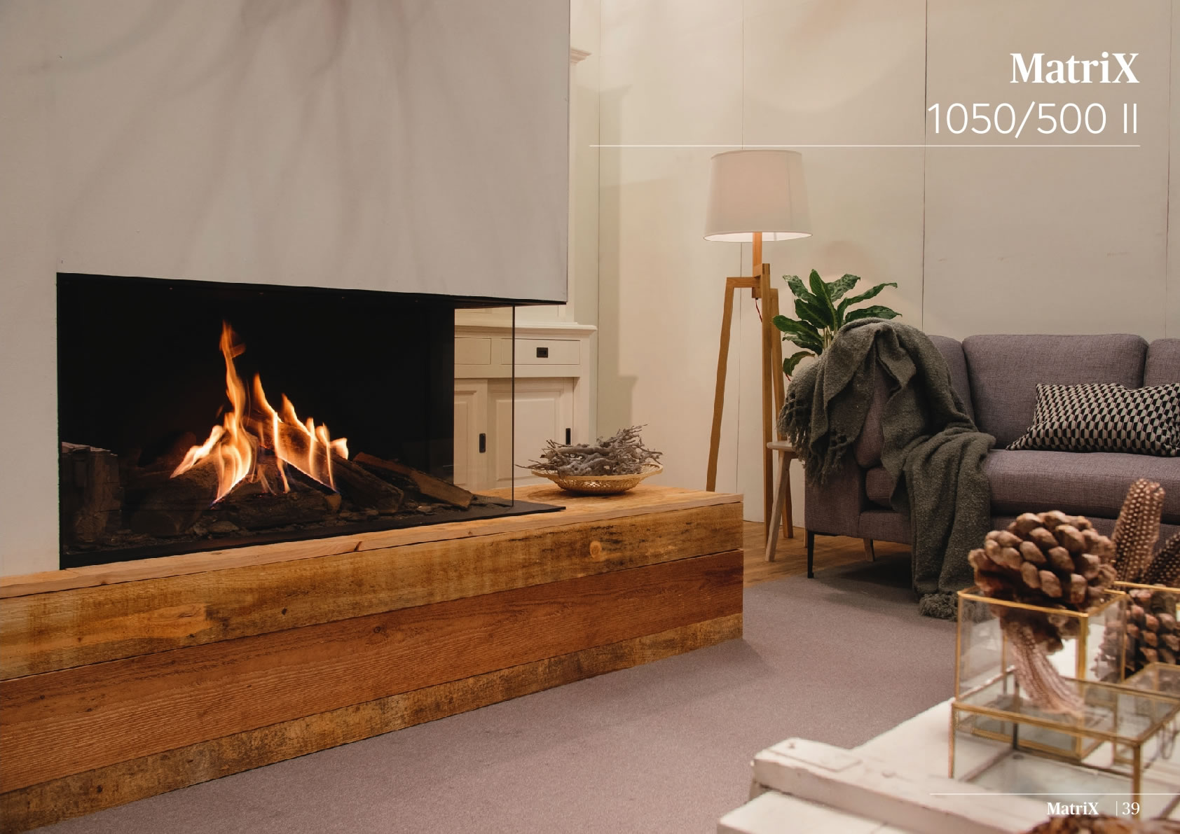 Faber Natural Gas Fireplaces - Matrix 1050 / 500 II