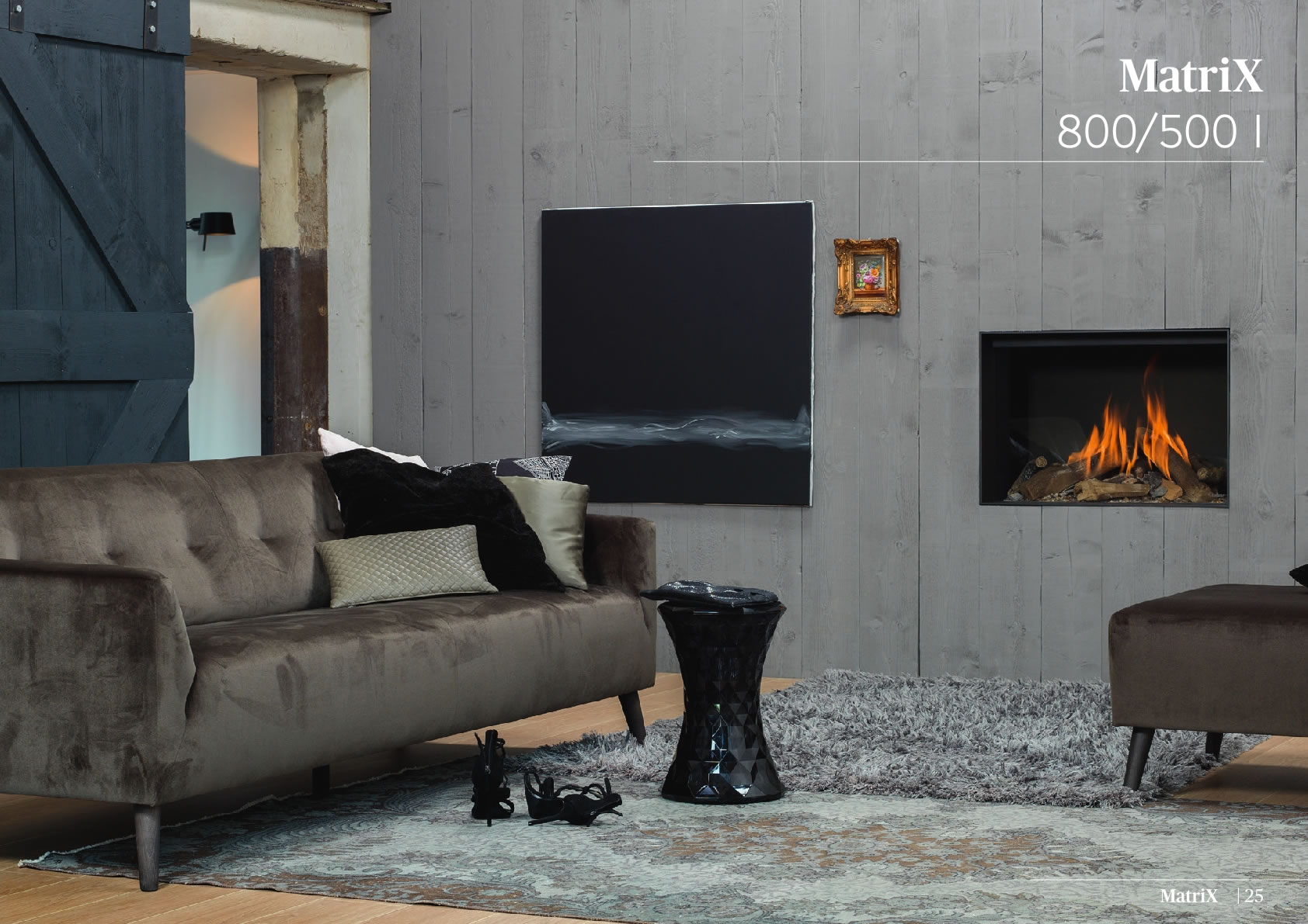 Faber Natural Gas Fireplaces - Matrix 800 / 500 I