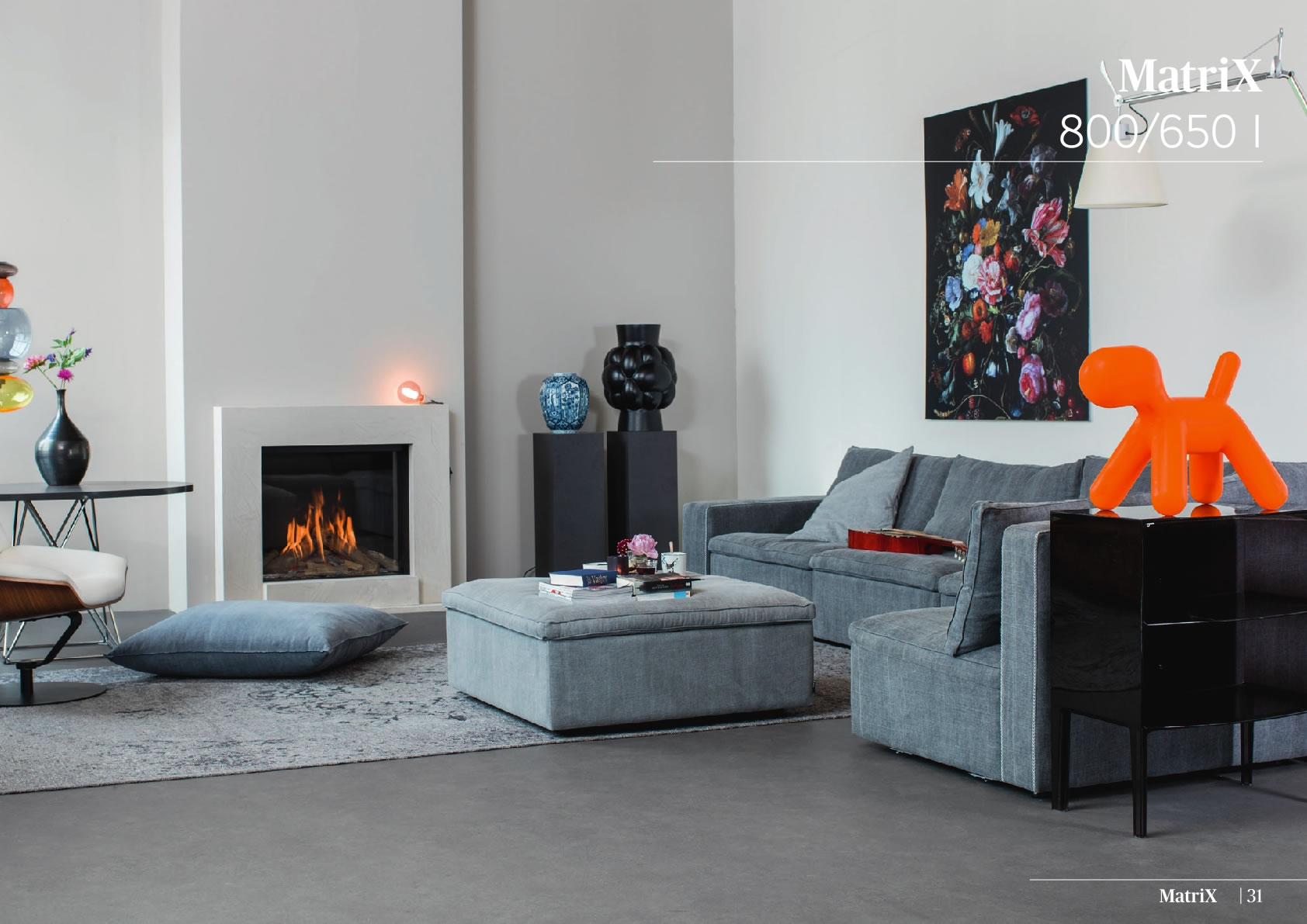 Faber Natural Gas Fireplaces - Matrix 800 / 650 I