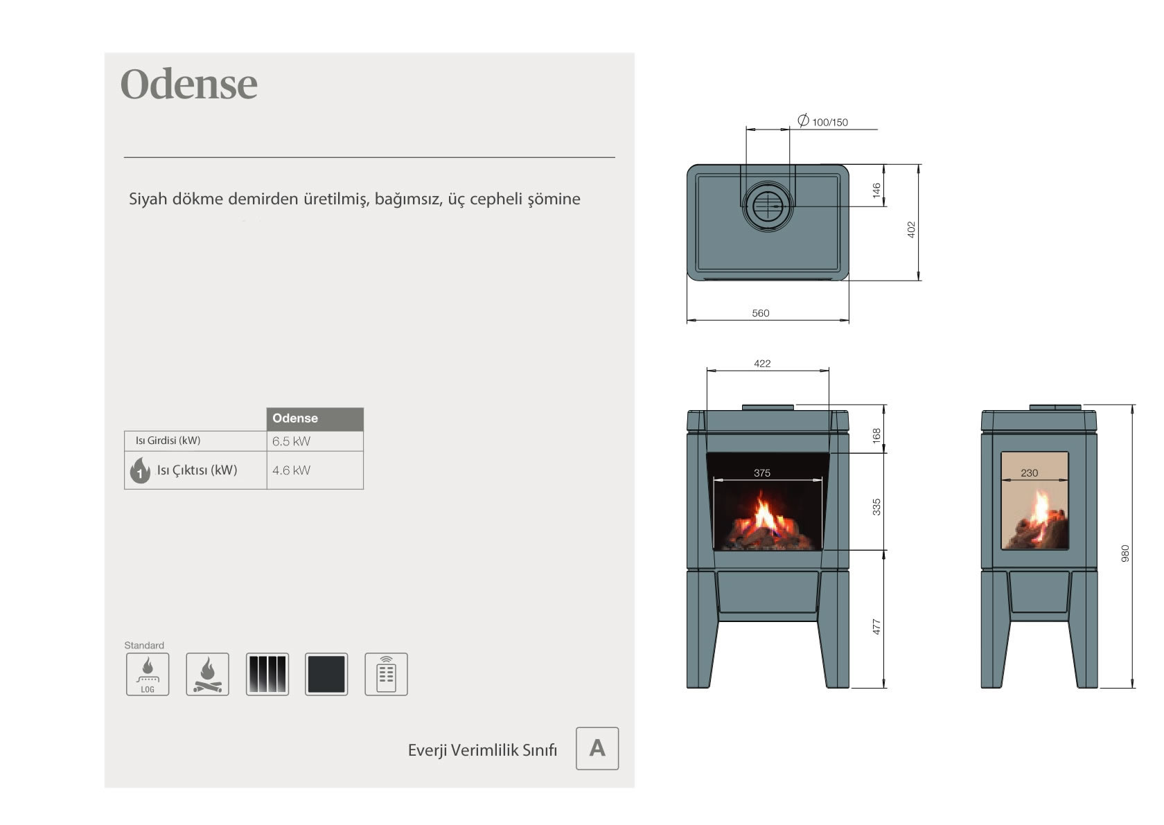Faber Natural Gas Fireplaces - Odense