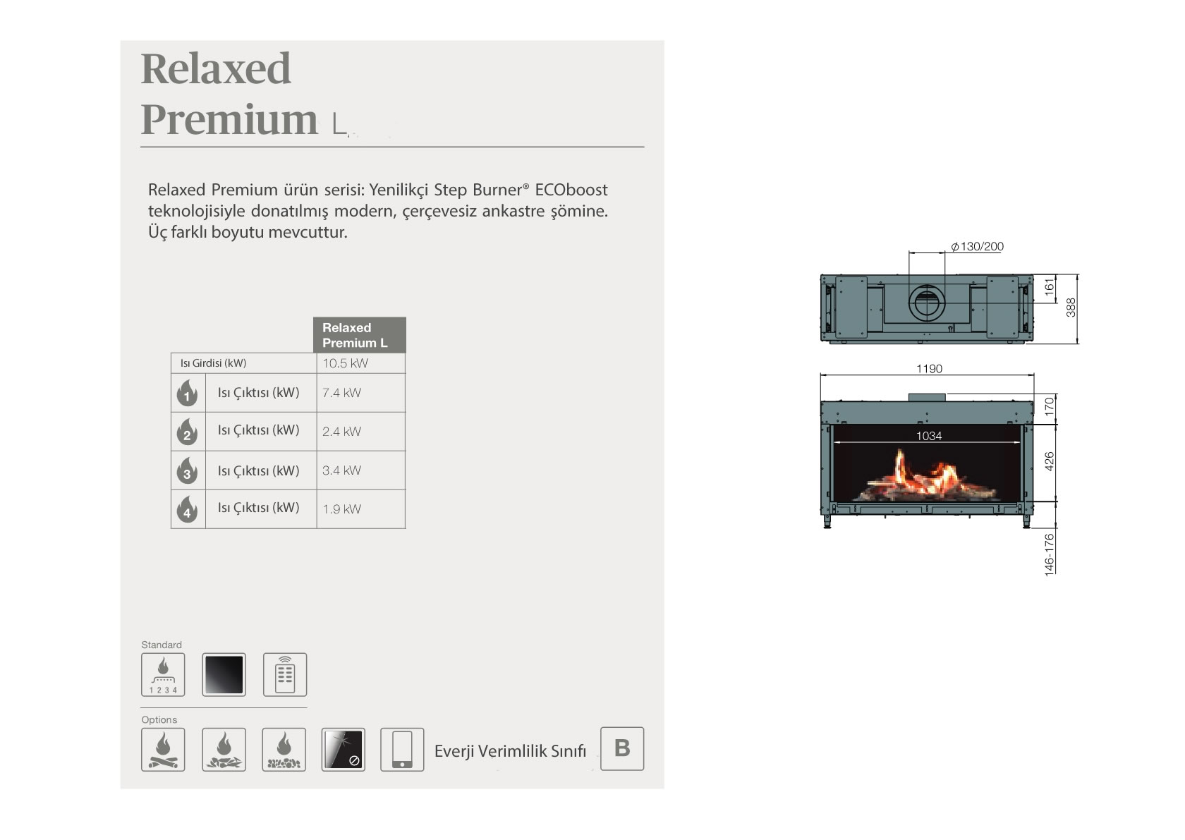 Faber Natural Gas Fireplaces - Relaxed Premium L