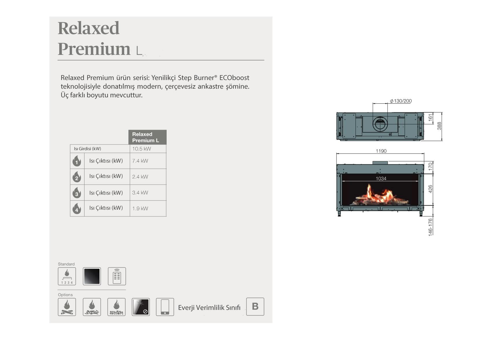 Faber Doğalgazlı Şömineler - Relaxed Premium L