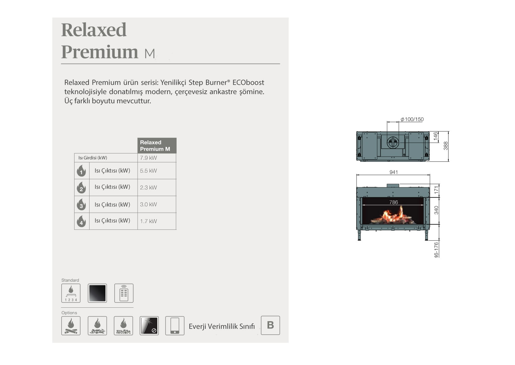 Faber Natural Gas Fireplaces - Relaxed Premium M