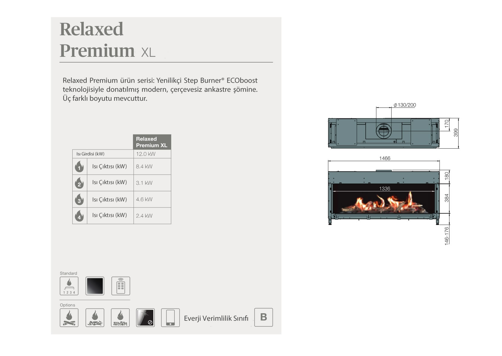 Faber Natural Gas Fireplaces - Relaxed Premium XL