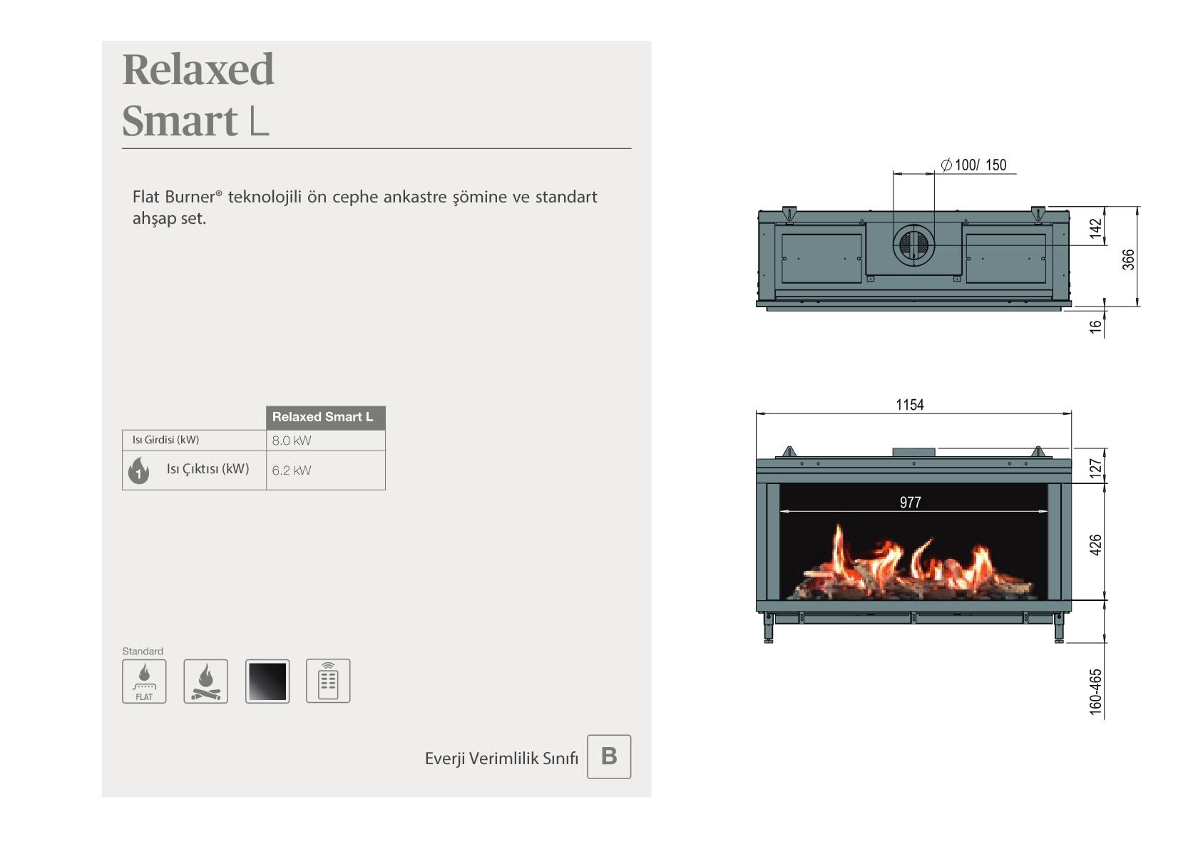 Faber Doğalgazlı Şömineler - Relaxed Smart L