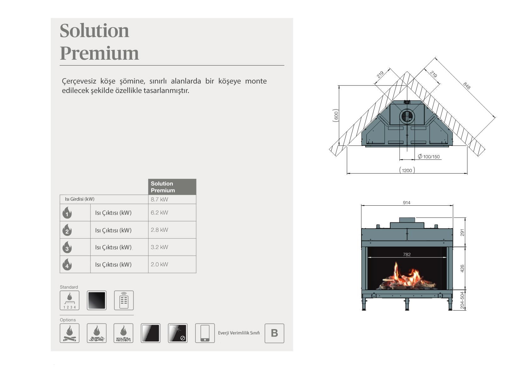 Faber Natural Gas Fireplaces - Solution Premium