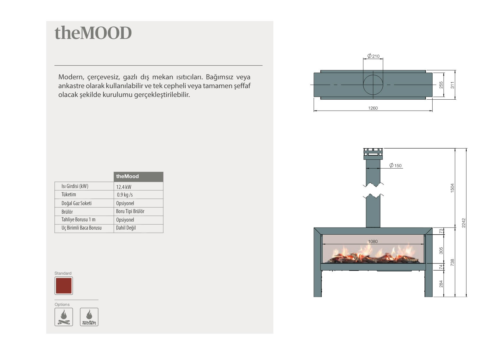 Faber Natural Gas Fireplaces - theMOOD