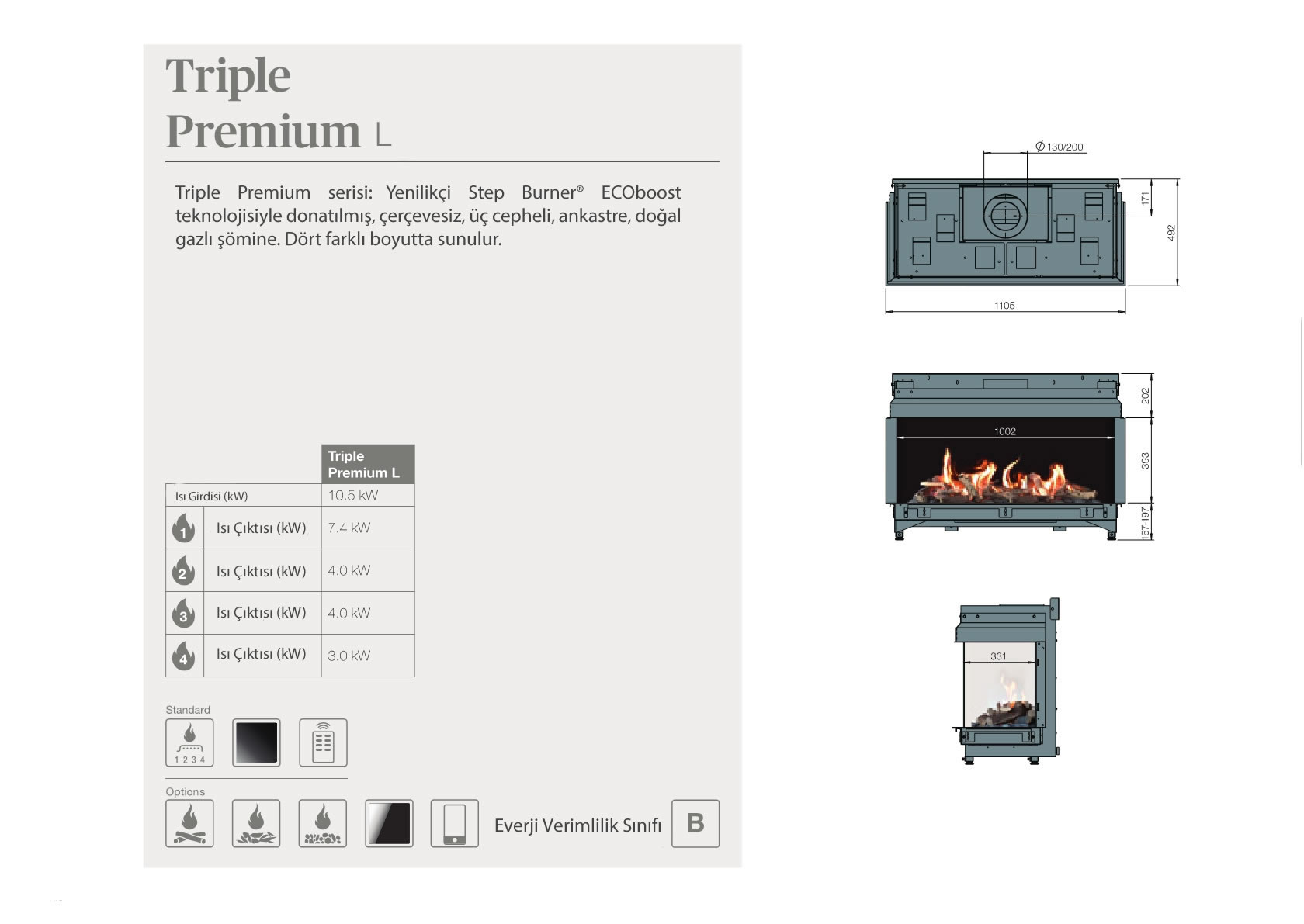 Faber Natural Gas Fireplaces - Triple Premium L
