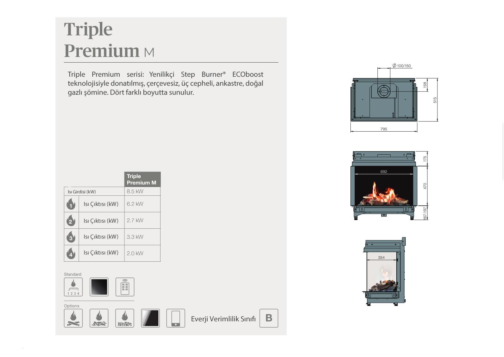Faber Natural Gas Fireplaces - Triple Premium M