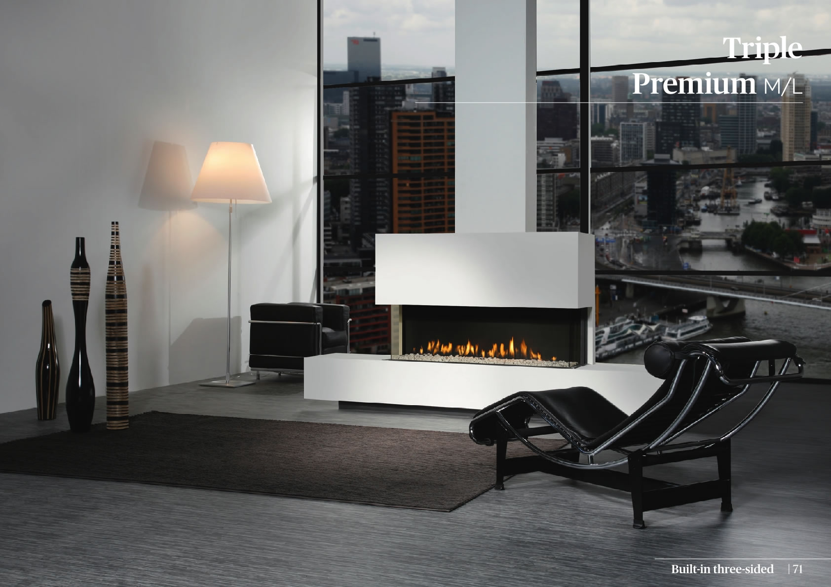Faber Natural Gas Fireplaces - Triple Premium XXL