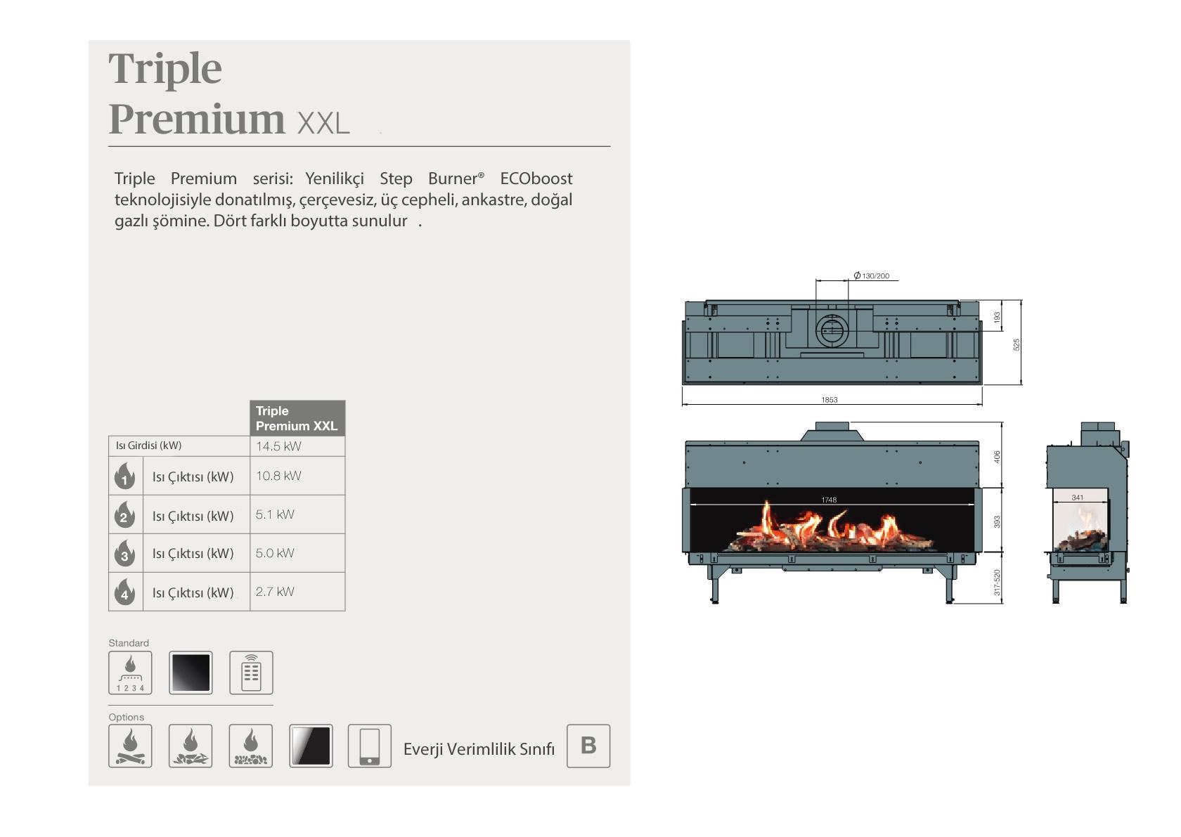 Faber Natural Gas Fireplaces - Triple Premium XXL