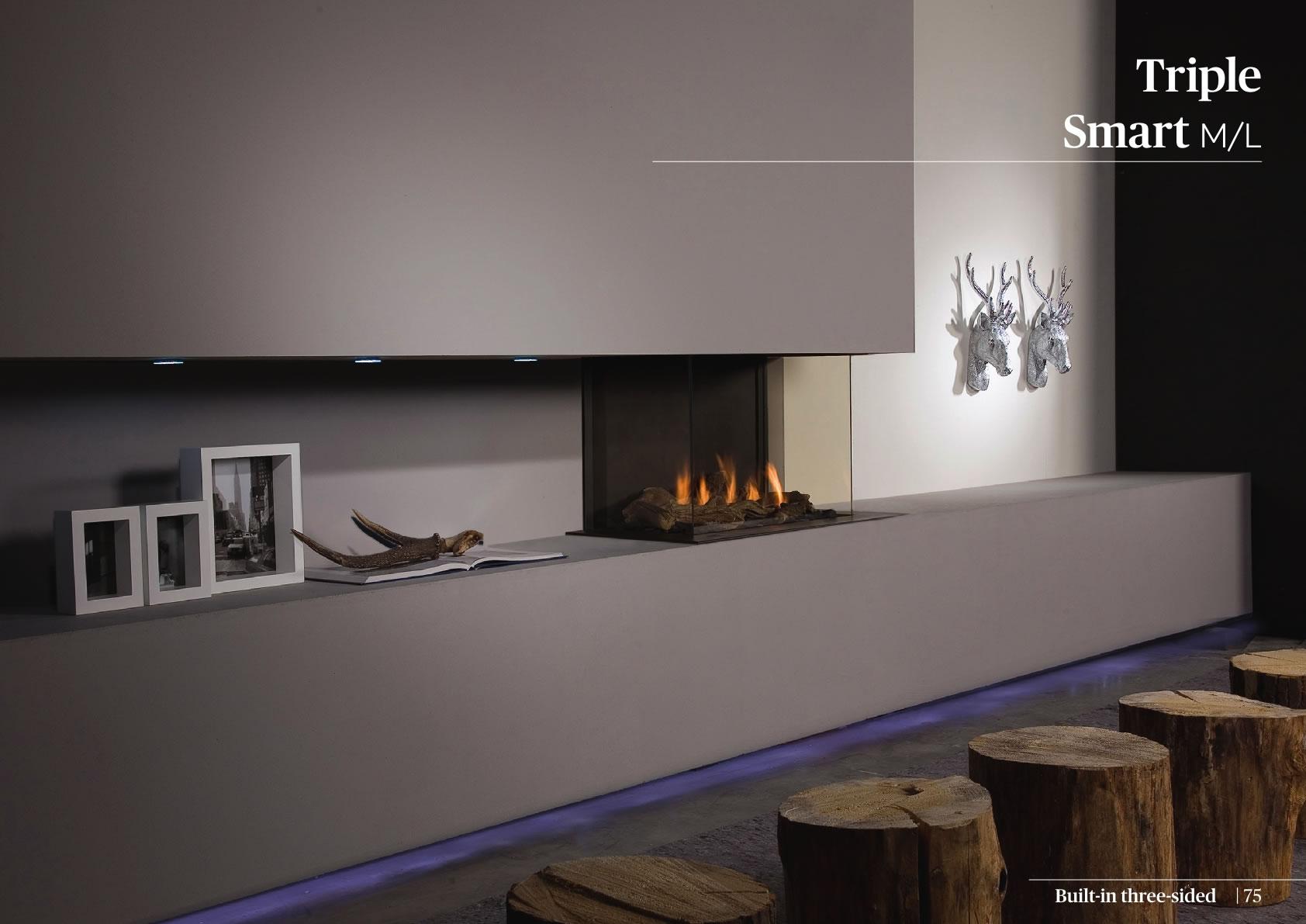 Faber Doğalgazlı Şömineler - Triple Smart M / L