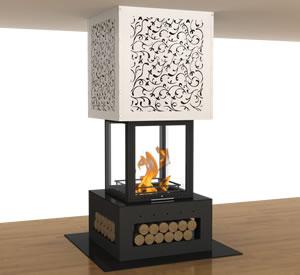 Hürsan Odunlu Orta Şömineler - LAZER