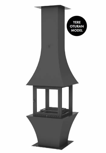 Hürsan Odunlu Orta Şömineler - EKO ORTA
